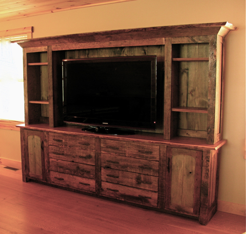 Rustic Entertainment Center, Barn Wood Furniture