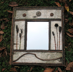 white mountains rustic furniture, rustic mirror